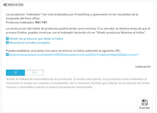Módulo búsquedas de PrestaShop