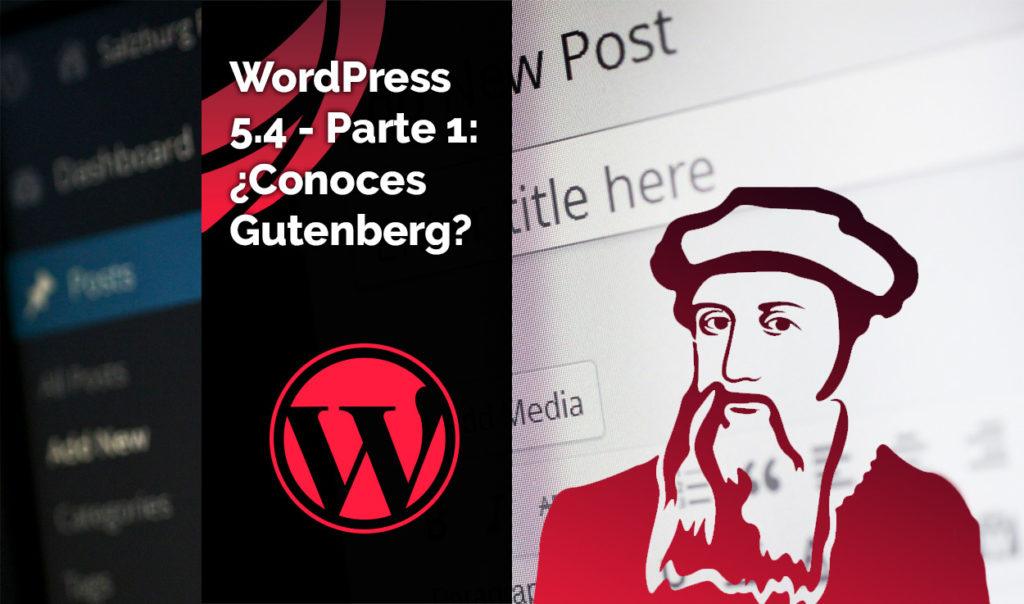 Editor visual Gutenberg de WordPress 5.4.