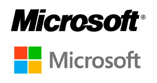 Logo antiguo y nuevo de Microsoft