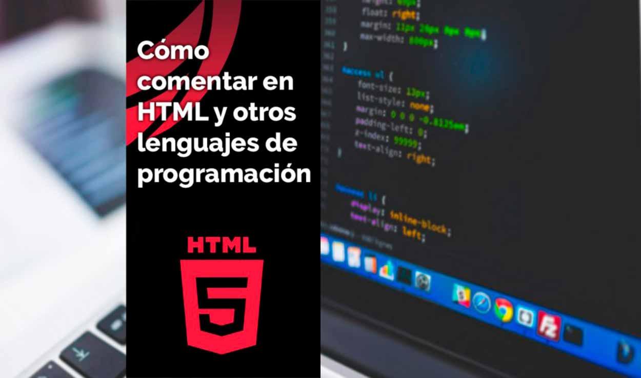 Comentar en HTML y en otros lenguajes de programación