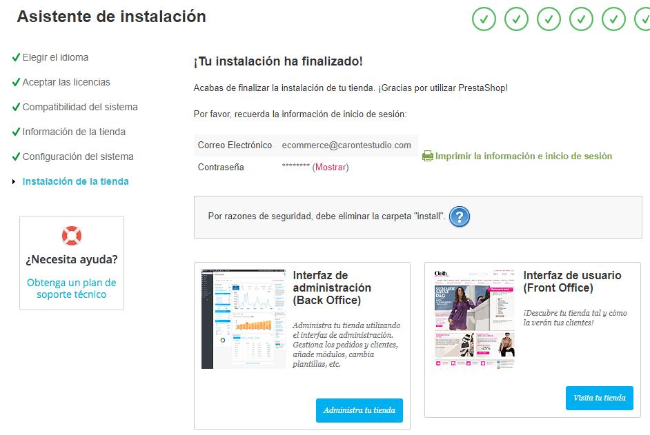 Instalando PrestaShop 1.6