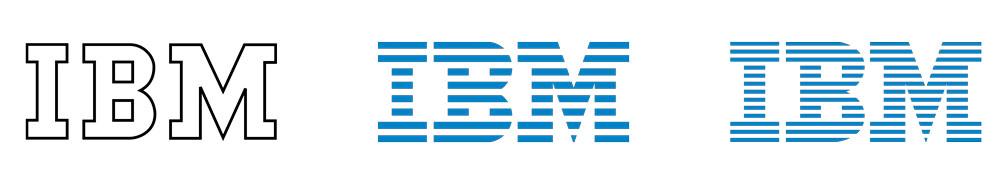 Evolución de logotipo de IBM por Paul Rand