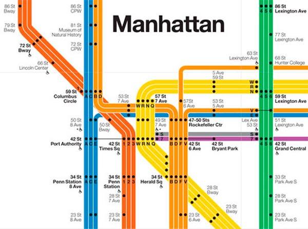 Metro de Nueva York, por Massimo Vignelli