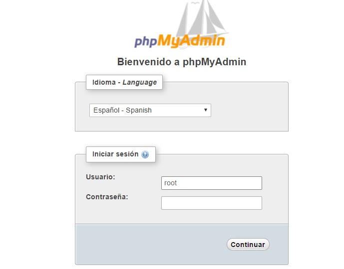 Instalar WordPress phpMyAdmin