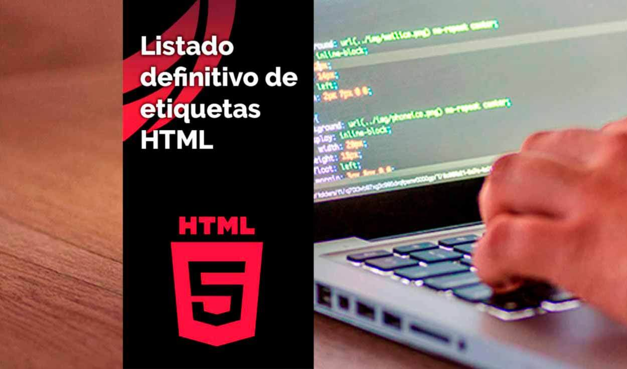 Listado de etiquetas HTML