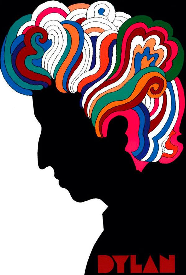 Milton Glaser, y su cartel para Bob Dylan