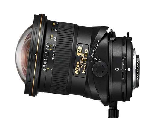 Objetivo descentrable Nikon para corregir perspectivas