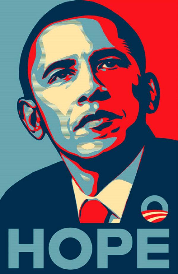 Milton Glaser y su famoso cartel de Barak Obama