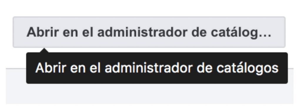 Acceso al administrador de catálogos en Facebook Business Manager. Se abre en ventana nueva.