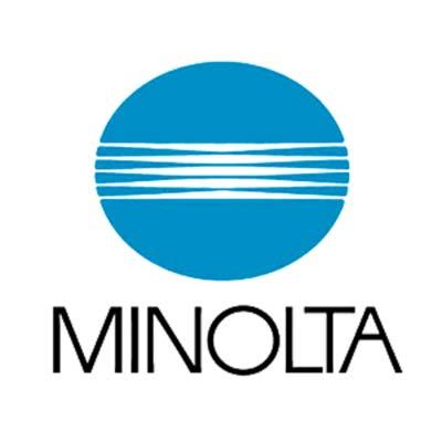 Logotipo de Minolta hecho por Saul Bass