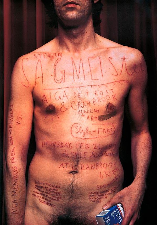 Cartel para AIGA de Stefan Sagmeister