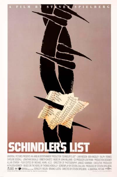 "Cartel de ""La Lista de Schindler""."