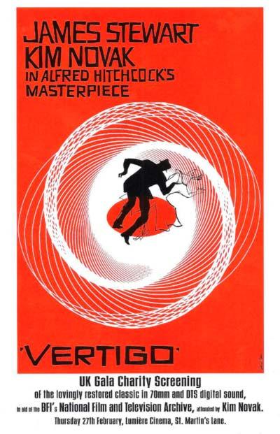"Cartel para la película ""Vertigo""."