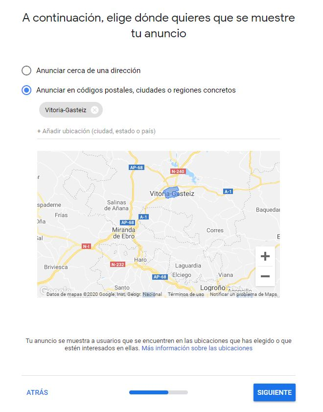 Google Ads, alcance geográfico.