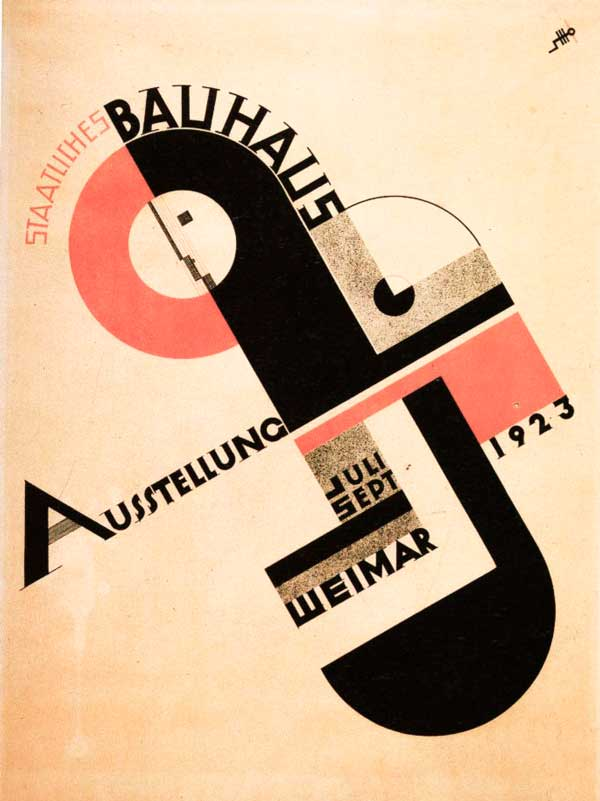 Cartel de la Bauhaus, por Herbert Bayer