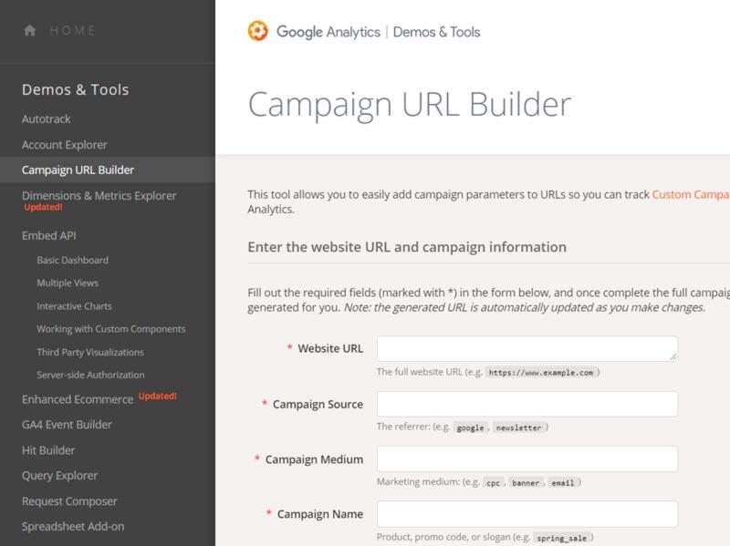 Crear códigos UTM con Campaing Builder de Google