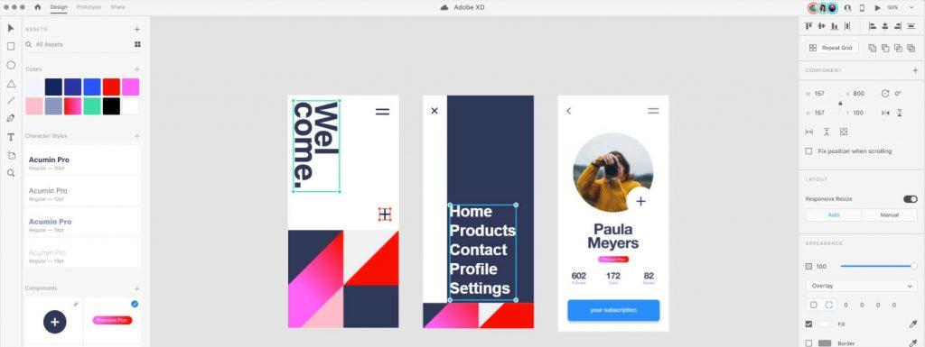 Prototipado web con Adobe XD
