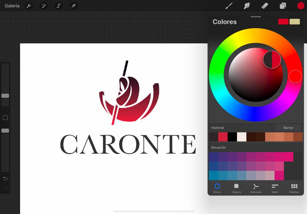 Escoger colores en Procreate