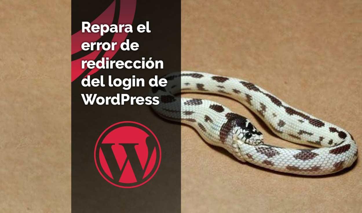 Reparar la redirección del login de WordPress