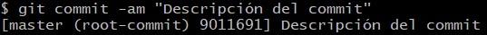 Introducción a Git y Github, comando git commit -am.
