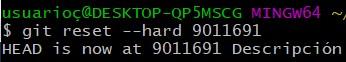 Introducción a Git y Github, comando git reset hard