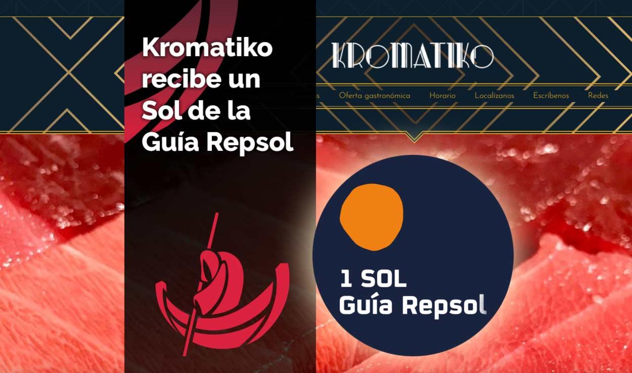 Kromatiko recibe un Sol de la Guía Repsol