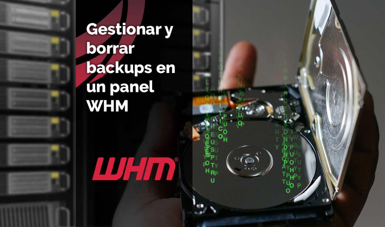 Gestionar y borrar backups en un panel WHM