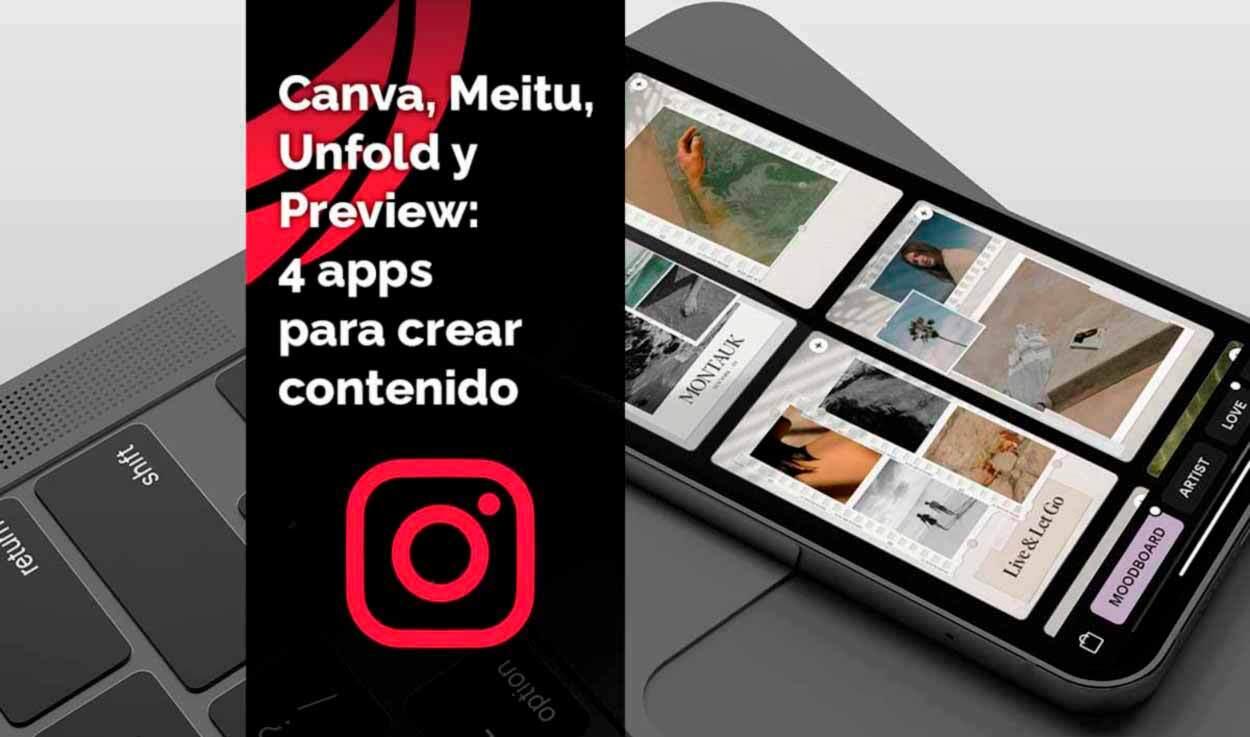 Las 4 mejores apps para crear contenido en Instagram