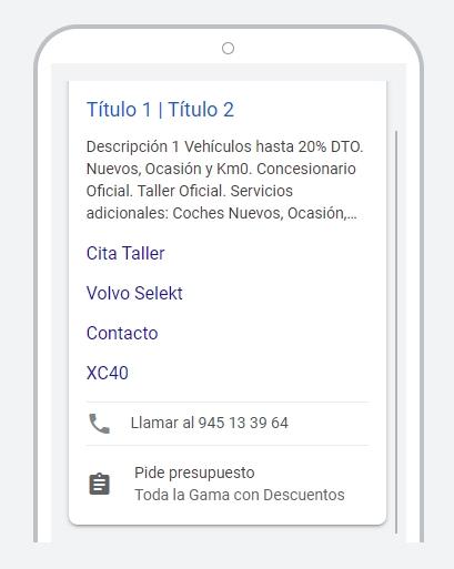 Apariencia móvil de extensión de formulario en anuncio