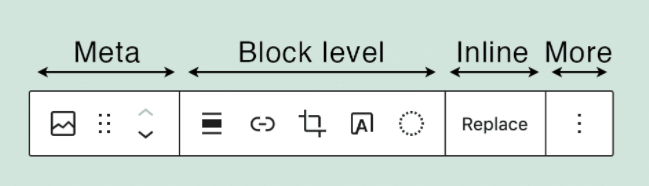 Nueva organización de la barra de herramientas de bloques de Gutenberg - WordPress.