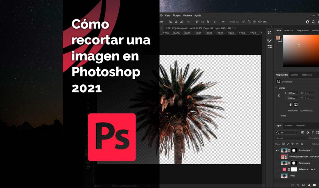 Cómo recortar una imagen en Photoshop 2021