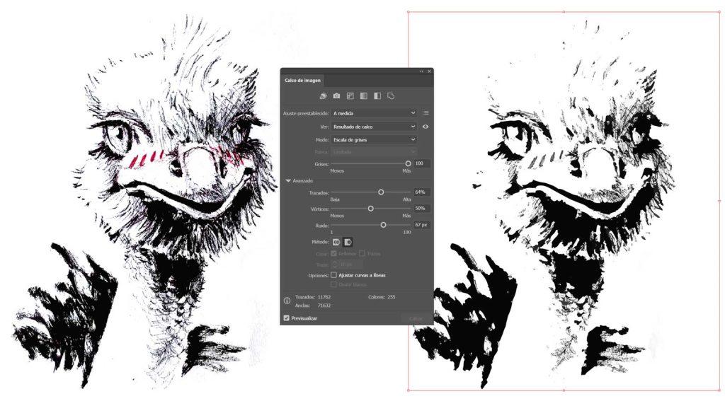 Vectorizar un dibujo con illustrator
