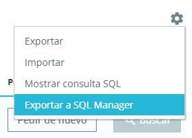 Exportar a SQL Manager.