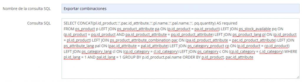 Crear una nueva consulta SQL para exportar información en SQL manager.